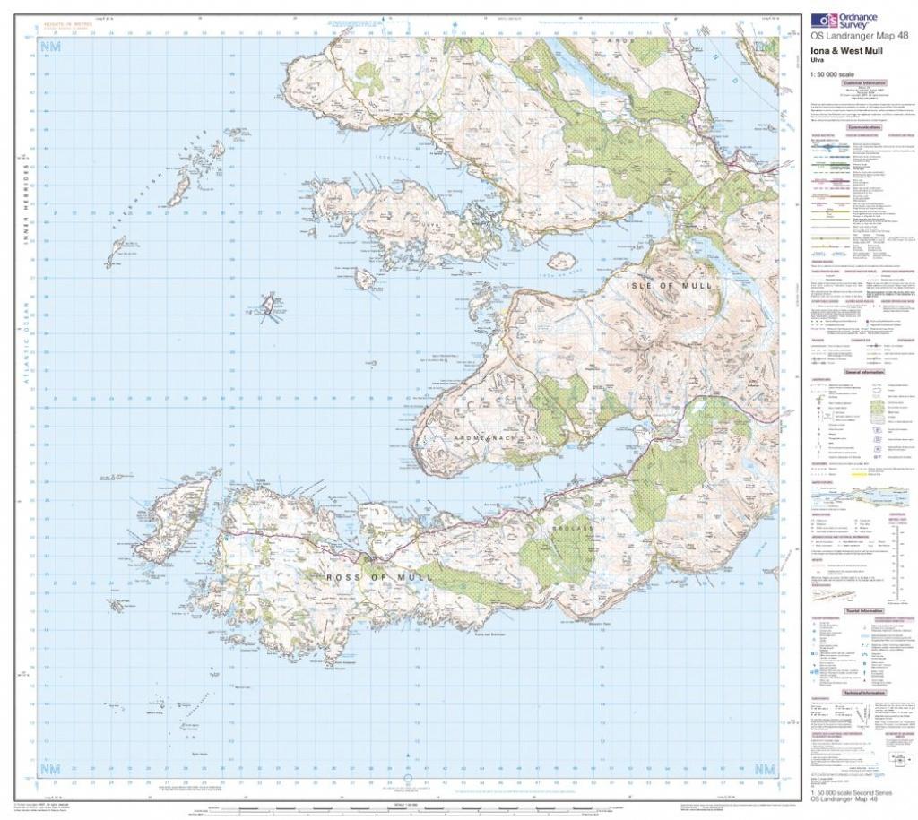 Os Landranger 01 - Shetland - Yell, Unst And Fetlar - Printable Map Of Mull