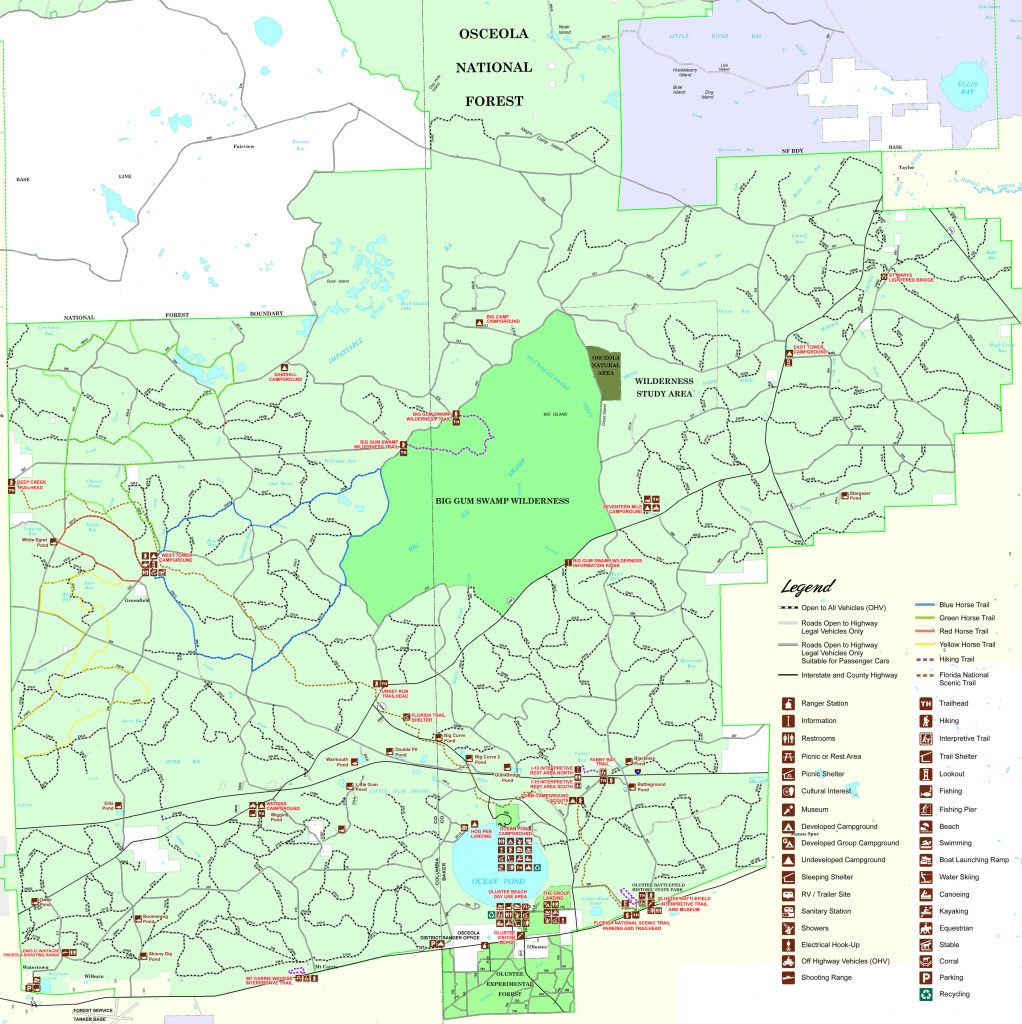 Osceola National Forest - Florida National Scenic Trail - Flood Zone Map Osceola County Florida