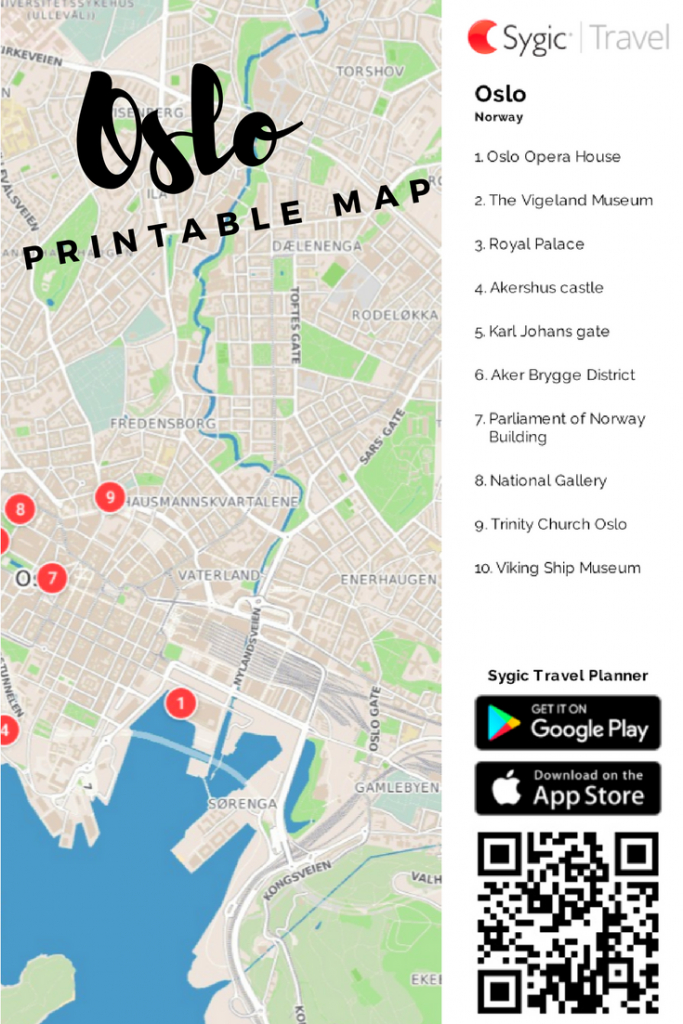 Oslo Printable Tourist Map In 2019 | Free Tourist Maps ✈ | Tourist - Printable Map Of Oslo Norway