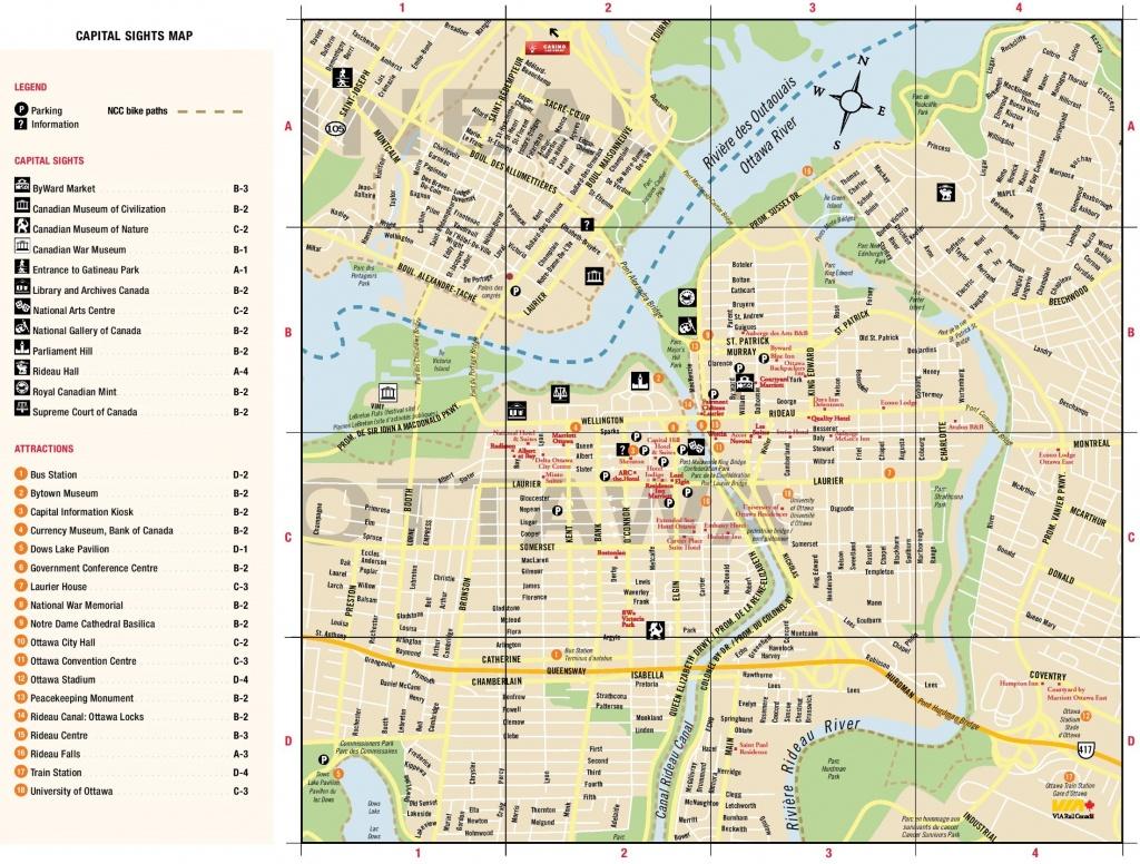 Ottawa Downtown Map - Printable Map Of Downtown Calgary