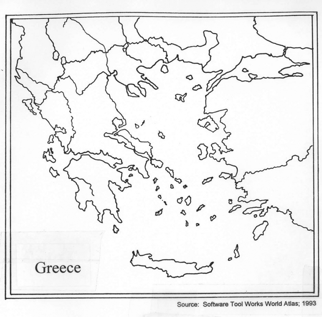 Outline Map Of Ancient Greece And Travel Information   Download Free - Outline Map Of Greece Printable