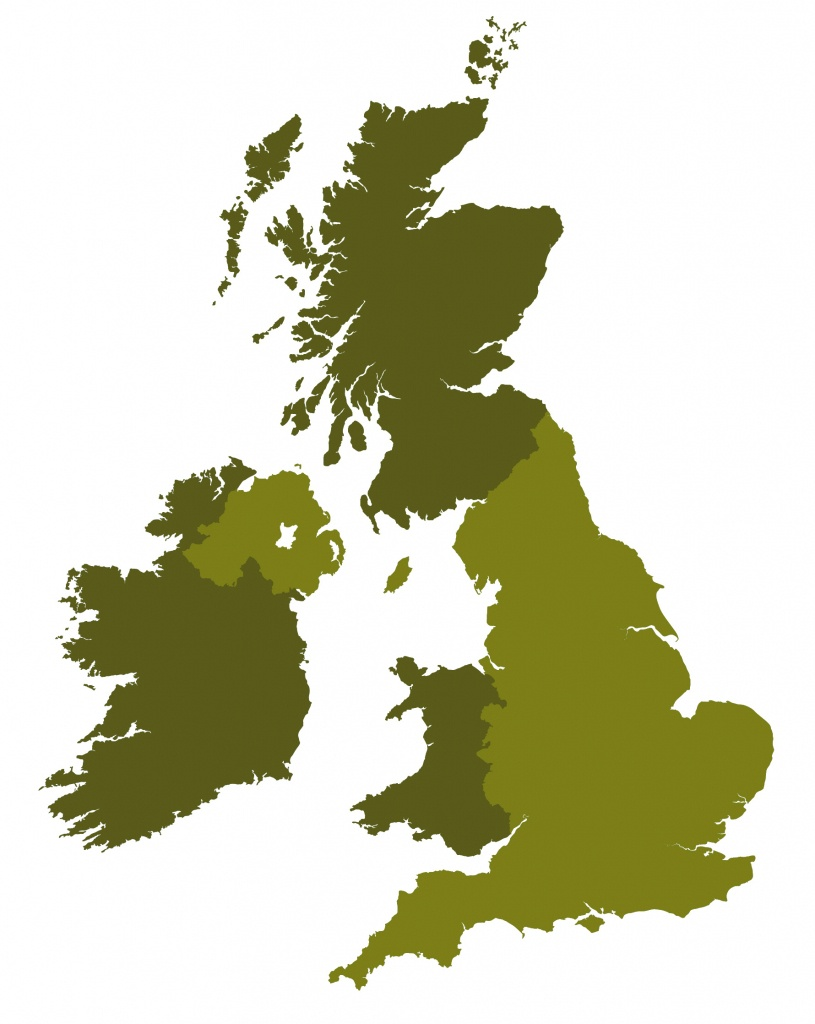 Outline Map Of Britain - Royalty Free Editable Vector Map - Maproom - Free Printable Map Of Uk And Ireland
