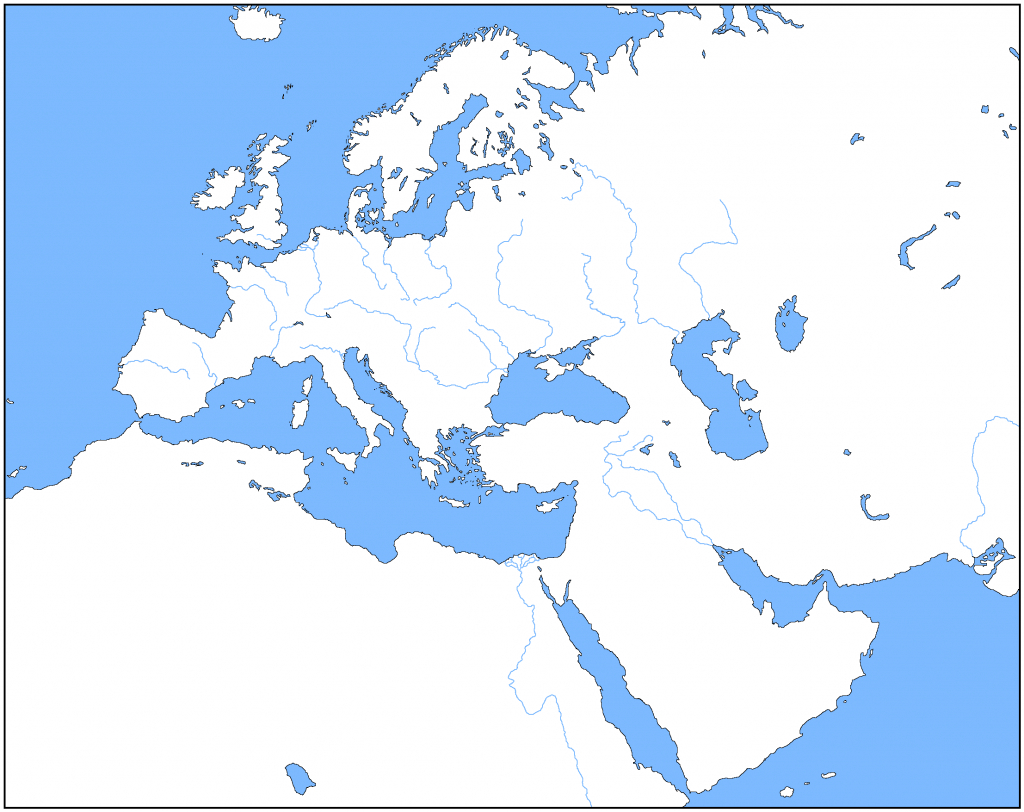 Outline Map Of Europe   Modg 8Th   Middle East Map, Asia Map, Map - Blank Map Of Europe 1914 Printable