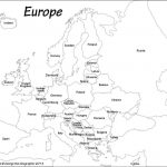 Outline Map Of Europe Political With Free Printable Maps And For   Printable Map Of Europe