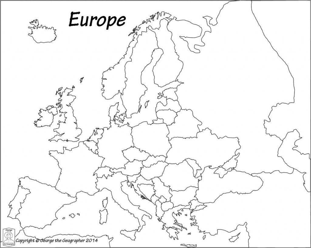 Outline Map Of Europe Political With Free Printable Maps And In - Printable Blank Map Of Europe