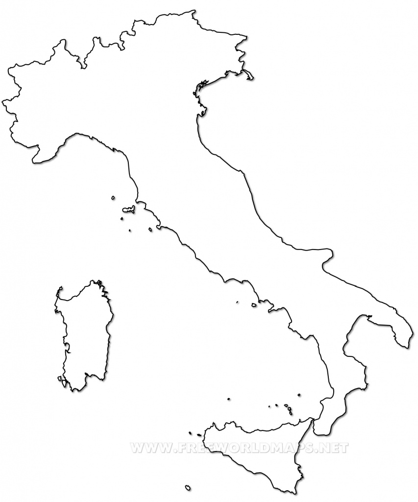Outline Map Of Italy Printable With Italy Political Map | Crafts - Printable Blank Map Of Italy