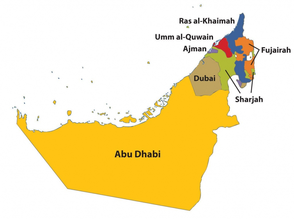 Outline Map Of Uae With 7 Emirates - Google Search   General - Outline Map Of Uae Printable