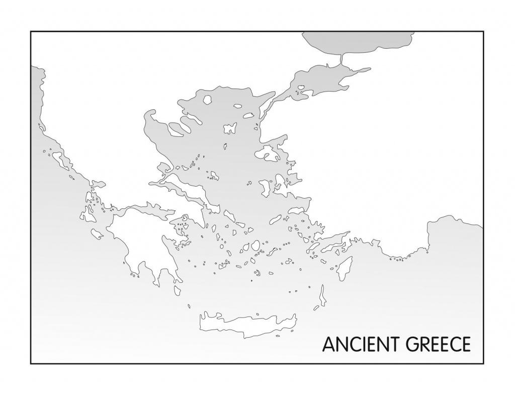 Outline Maps: Ancient Egypt And Greece   Random   Ancient Greece - Ancient Greece Map For Kids Printables