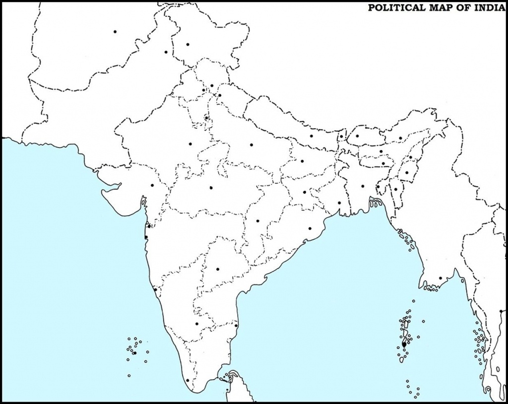 Outline Political Map Of India | Dehazelmuis - Political Outline Map Of India Printable