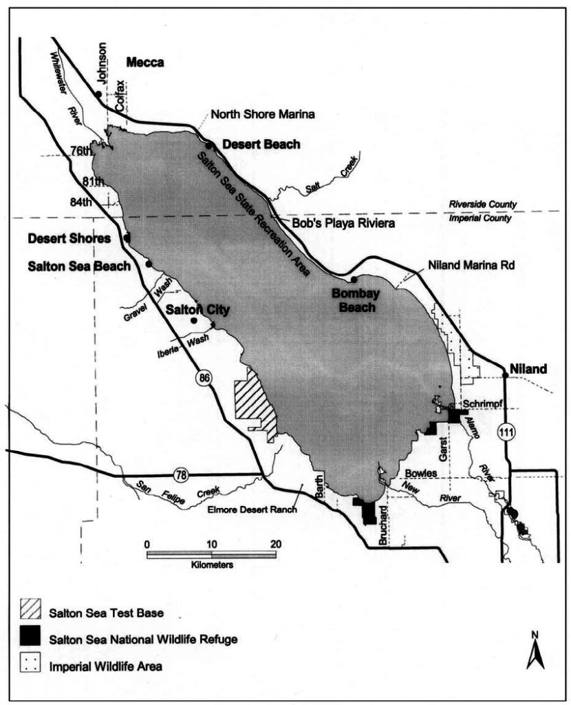 Overview Map Of The Salton Sea, California, And Vicinity. | Download - Salton Sea California Map
