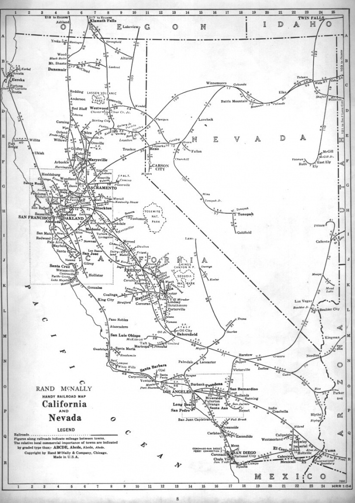 P-Fmsig :: 1948 U.s. Railroad Atlas - California Railroad Map