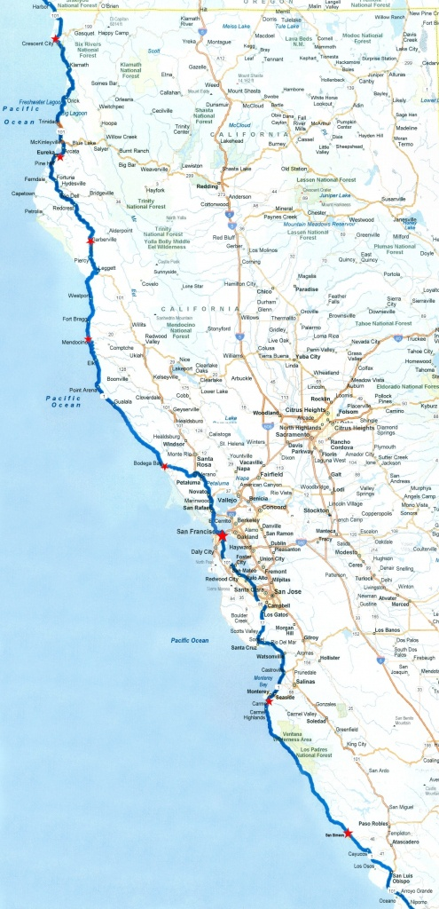 Pacific Coast Part 2 Inside California Coast Highway 101 Map – Map - California Pacific Coast Highway Map