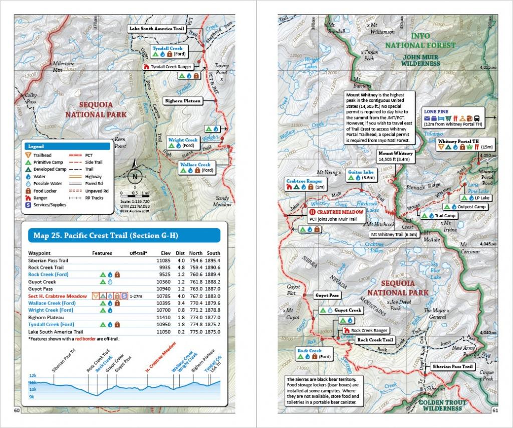Pacific Crest Trail Pocket Atlas | Blackwoods Press - Pct Map California