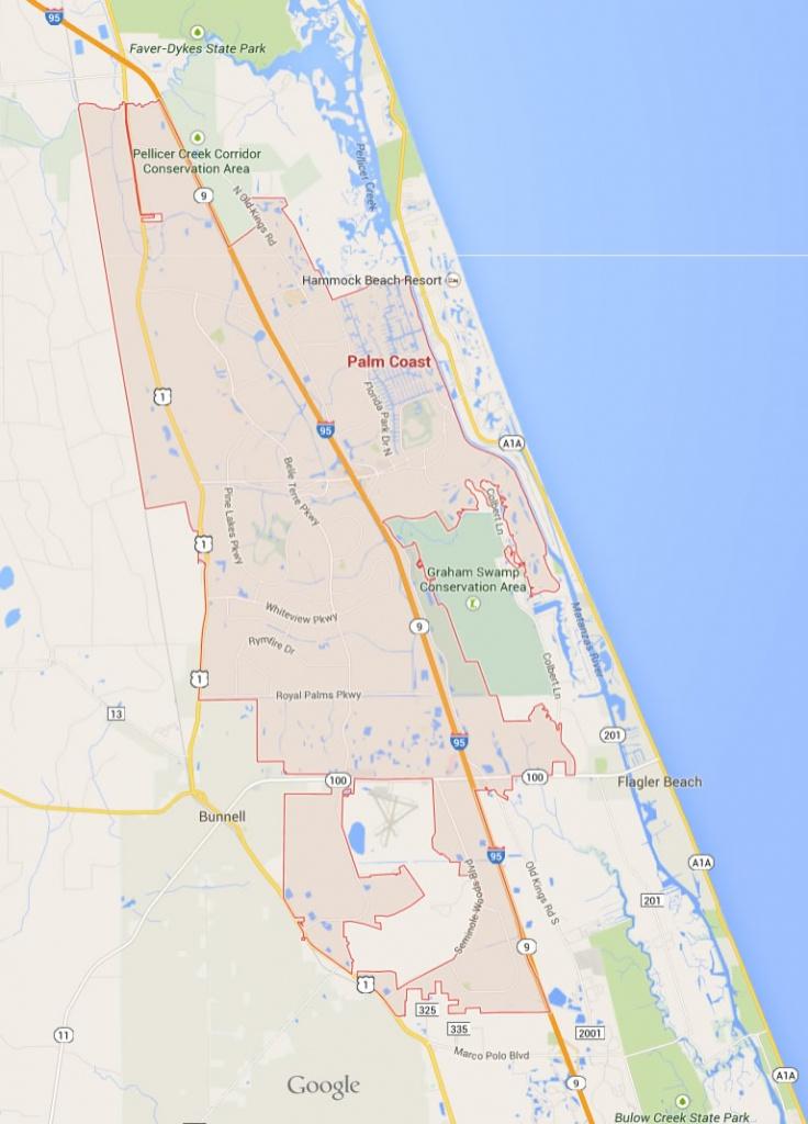 Palm Coast Florida Map - Map Of Palm Coast Florida Area