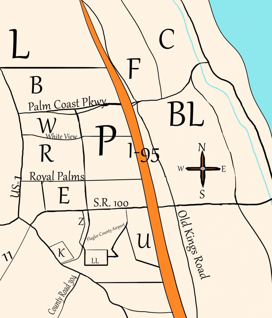 Palm Coast's Crazy Sections – I Love Palm Coast - Palm City Florida Map