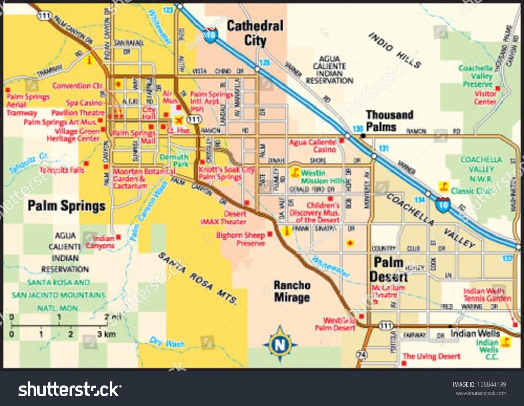 Palm Springs California Area Map Image Vectorielle De Stock (Libre - Palm Springs California Map