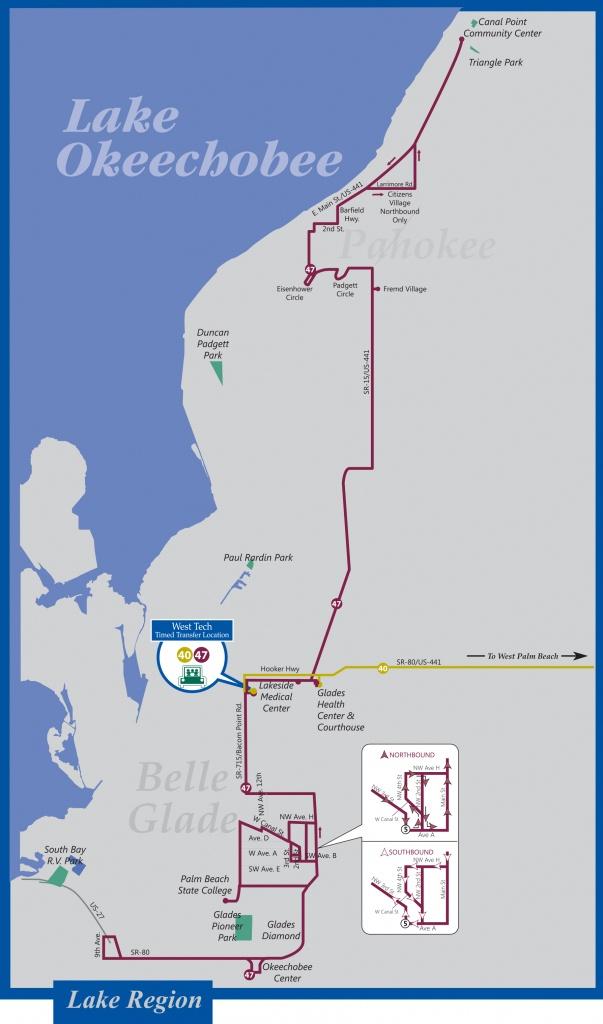 Palm Tran Bus Service - Belle Glade Florida Map