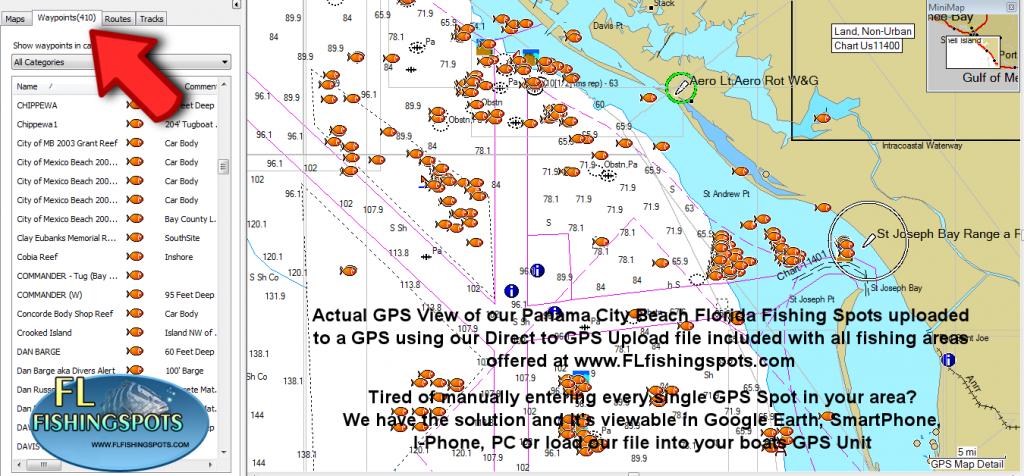 Panama City Florida Fishing Map | Fishing | Panama City Panama - Florida Fishing Map