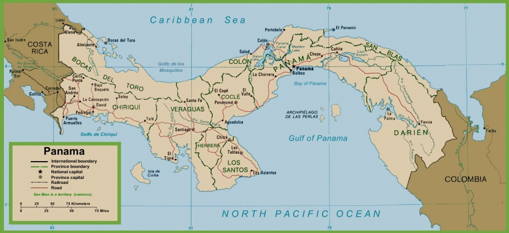 Panama Political Map - Printable Map Of Panama