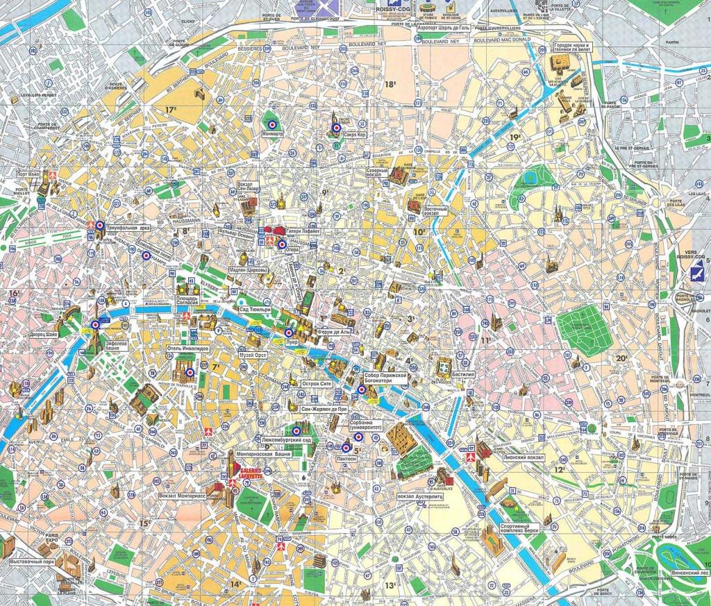Paris Map - Detailed City And Metro Maps Of Paris For Download - Printable Map Of Paris France