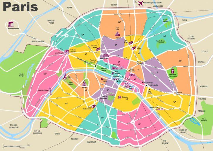 Printable Map Of Paris City Centre