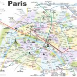 Paris Metro Map With Main Tourist Attractions   Map Of Paris Metro Printable