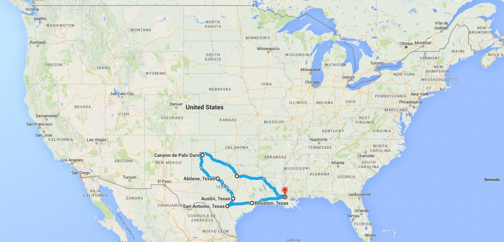 Paris) Texas | Boris Et Anaïs Aux Usa - Paris Texas Map
