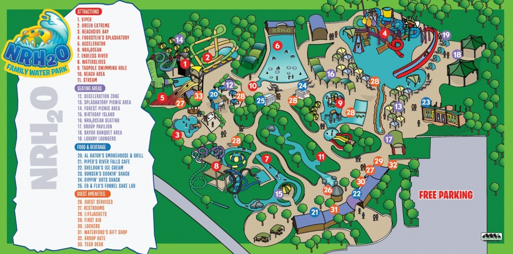 Park Map | Nrh₂O Family Water Park | North Richland Hills, Tx - Richland Hills Texas Map