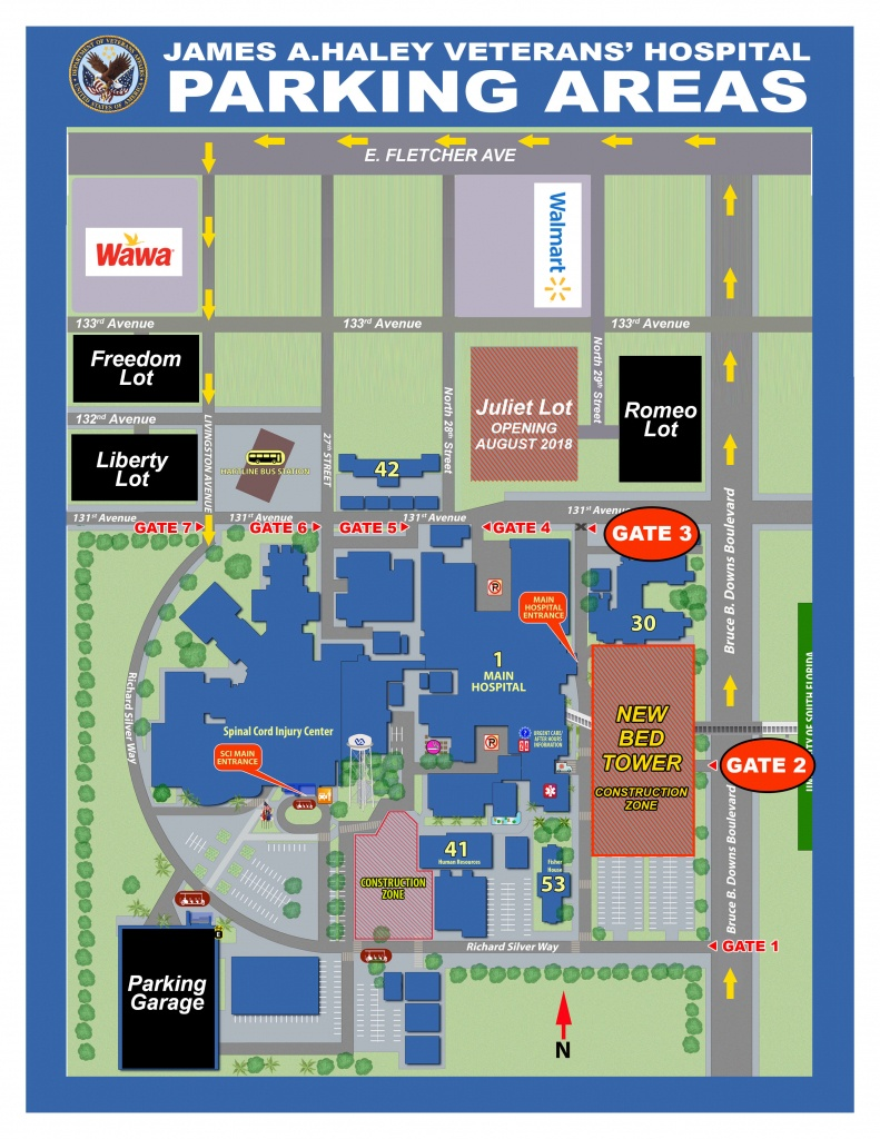 Parking Changes - James A. Haley Veterans' Hospital - Tampa, Florida - Florida Hospital South Map