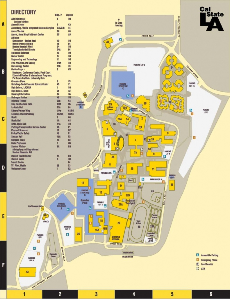 Parking/directions/campus Map | Cal State La - California University Of Pa Campus Map