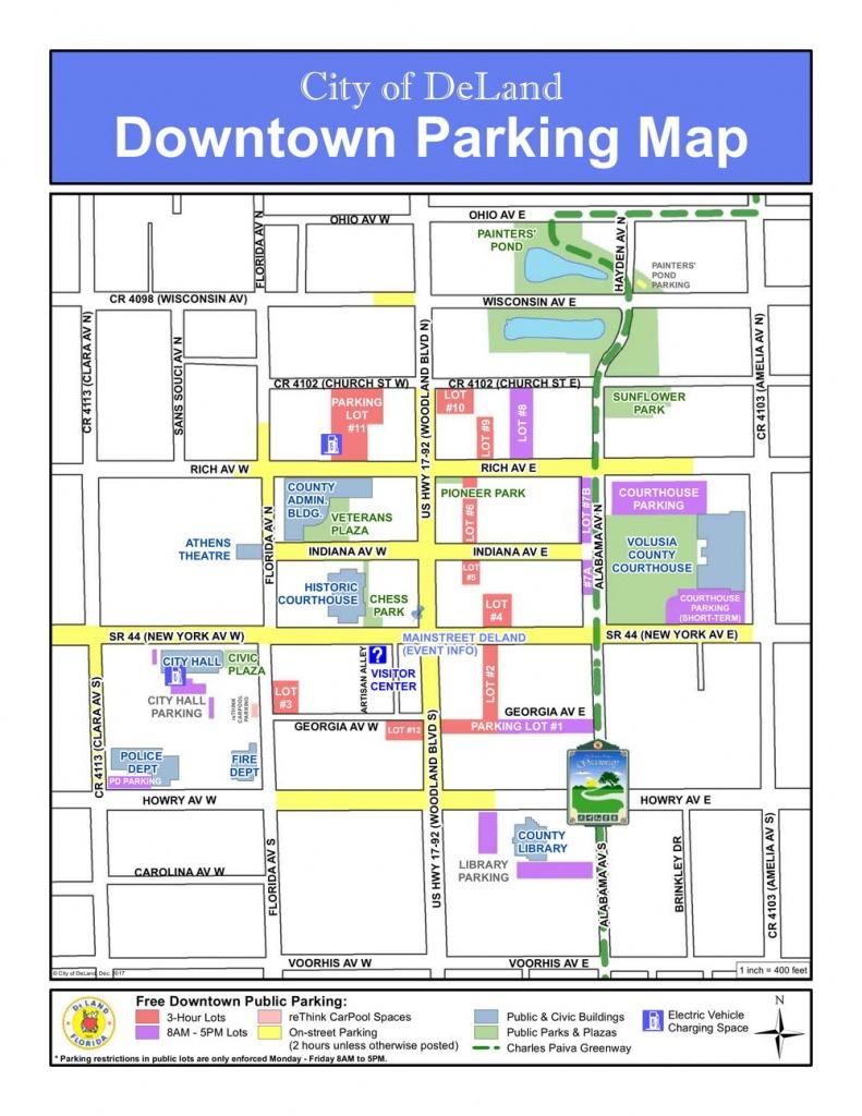 Parking Map - Deland Florida Map