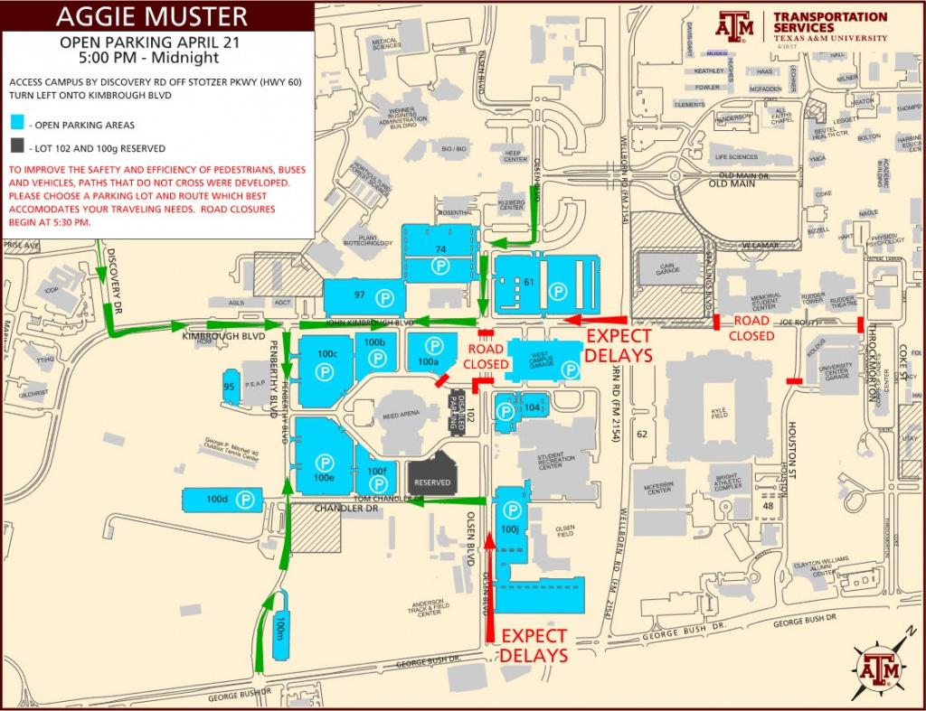 Parking Map Tamu | Dehazelmuis - Texas A&m Football Parking Map