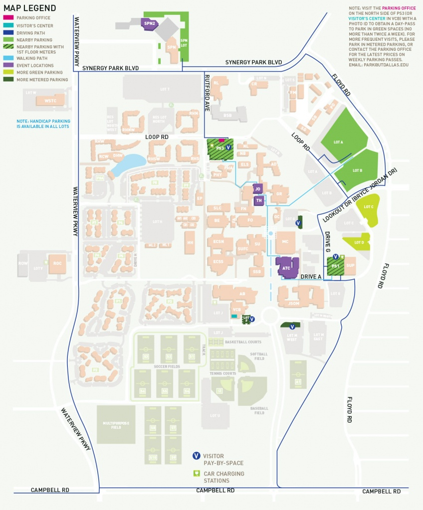 Parking, Maps And Directions To Venues - Events - School Of Arts And - Printable Maps For School
