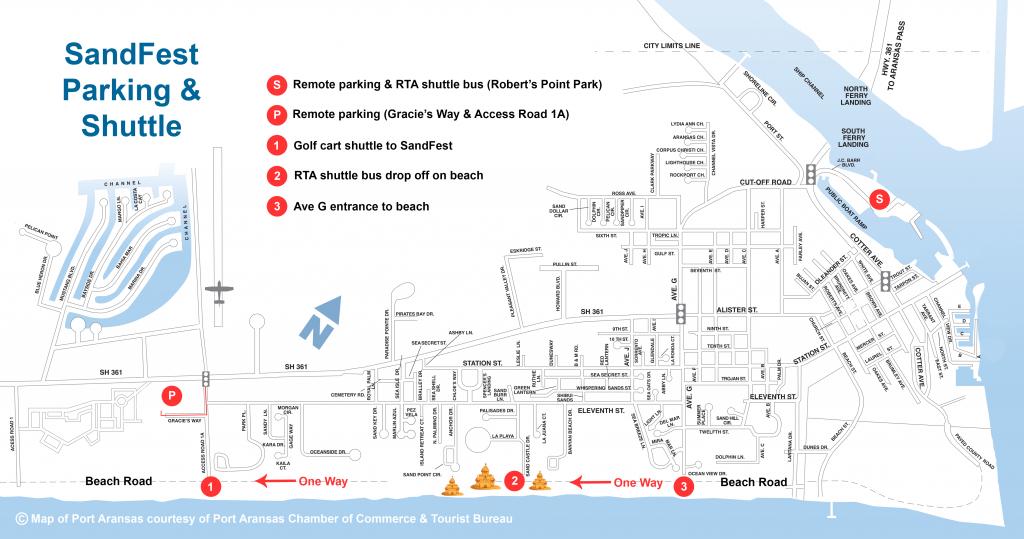 Parking & Shuttles | Texas Sandfest - Best Texas Beaches Map