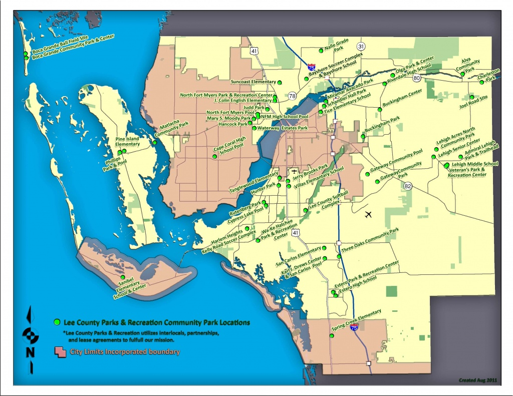 Parks & Recreation - Map Of Lee County Florida