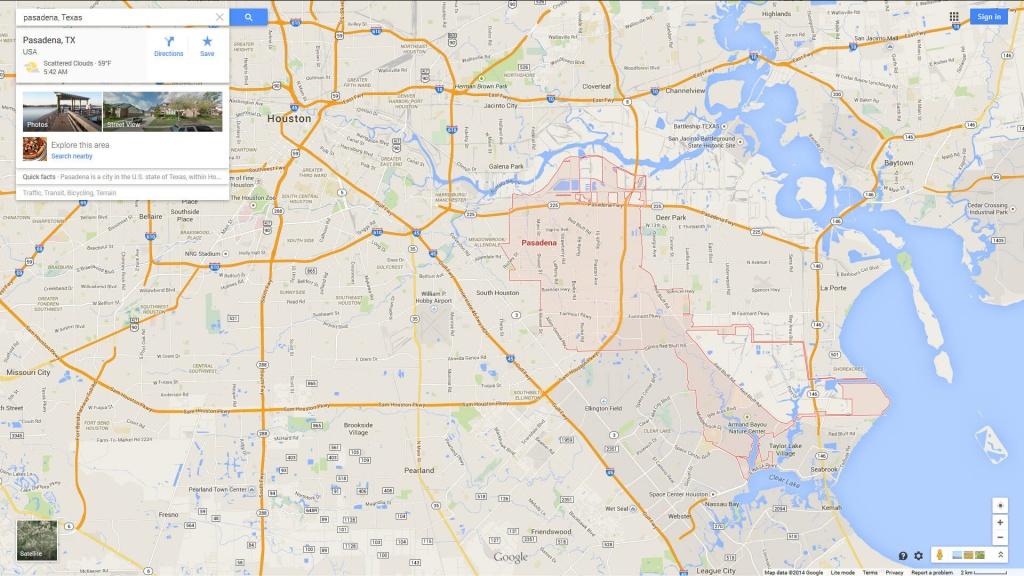 Pasadena, Texas Map - Google Maps Pasadena Texas