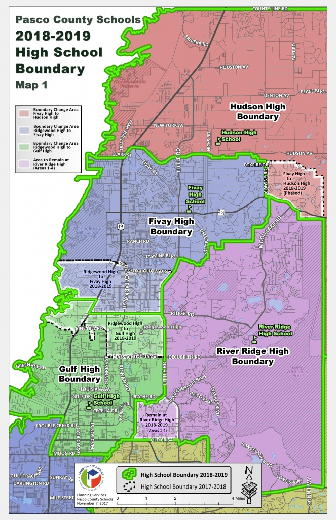 Pasco School District Posts Proposed Rezoning Map For Ridgewood High - Hudson Florida Map