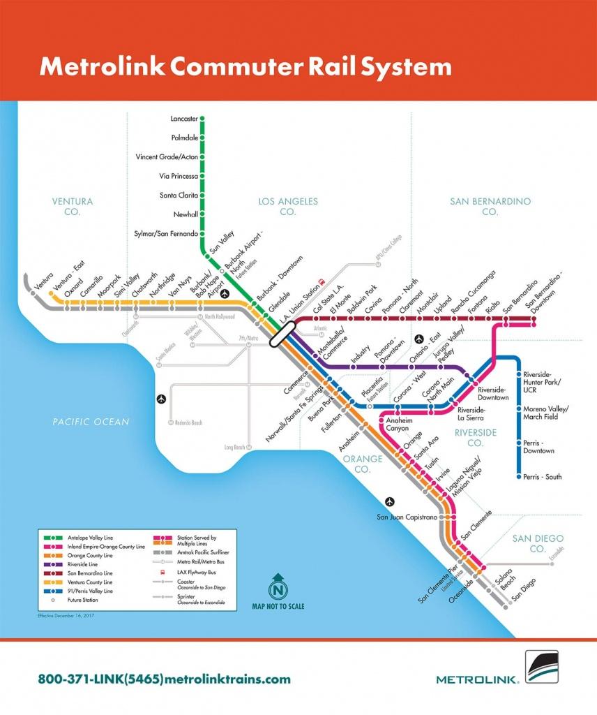 Passenger Rail - Riverside County Transportation Commission - Southern California Metrolink Map