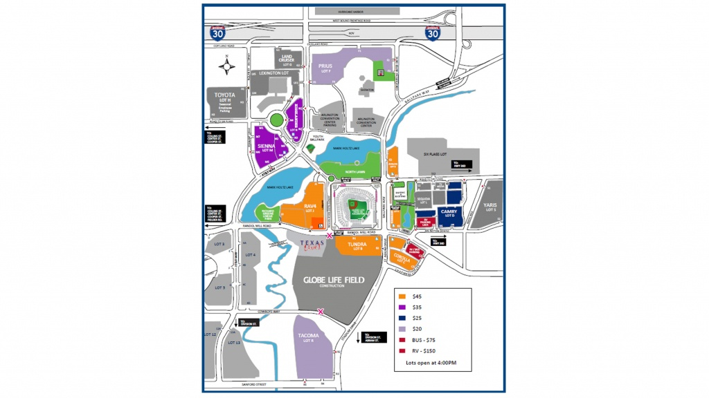 Paul Mccartney At Globe Life Park | Texas Rangers - Texas Rangers Parking Map 2018