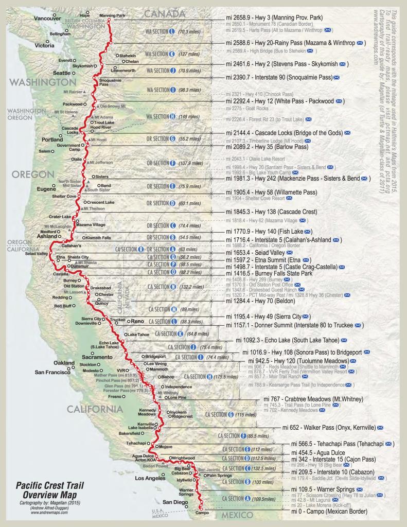 Pct Map California | California Map | Pct | Forrest Gump, Kanada A - Pct Map California