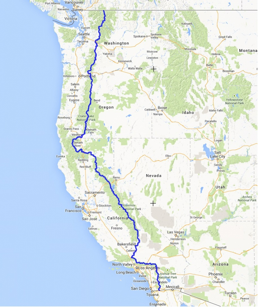 Pct Map | Warrior Expeditions - Pct Map California