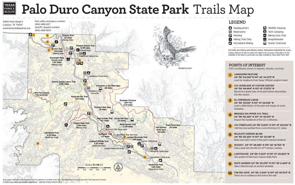 Pdc Trail Map | Texas In 2019 | Palo Duro Canyon, Palo Duro, Hiking - Texas Hiking Trails Map