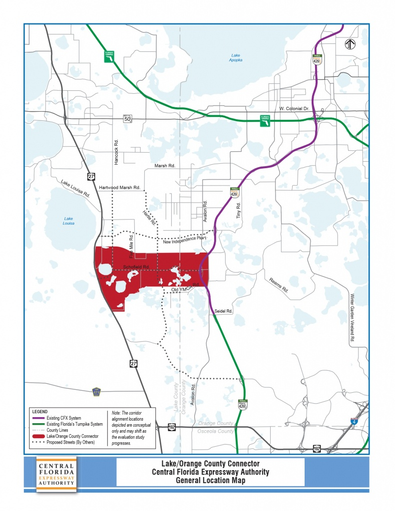 Pd&e Study - Lake/orange County Connector | Central Florida - Orange County Florida Parcel Map