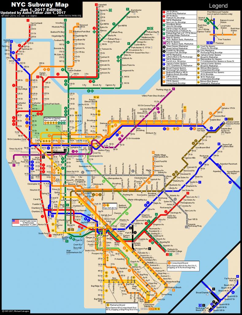 Pdf-Large-Printable-Nyc-Subway-Map - Printable Nyc Map Pdf