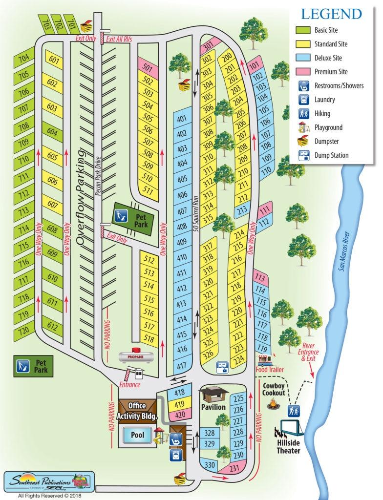 Pecan Park Riverside Rv Park Campground Map - Texas Rv Parks Map