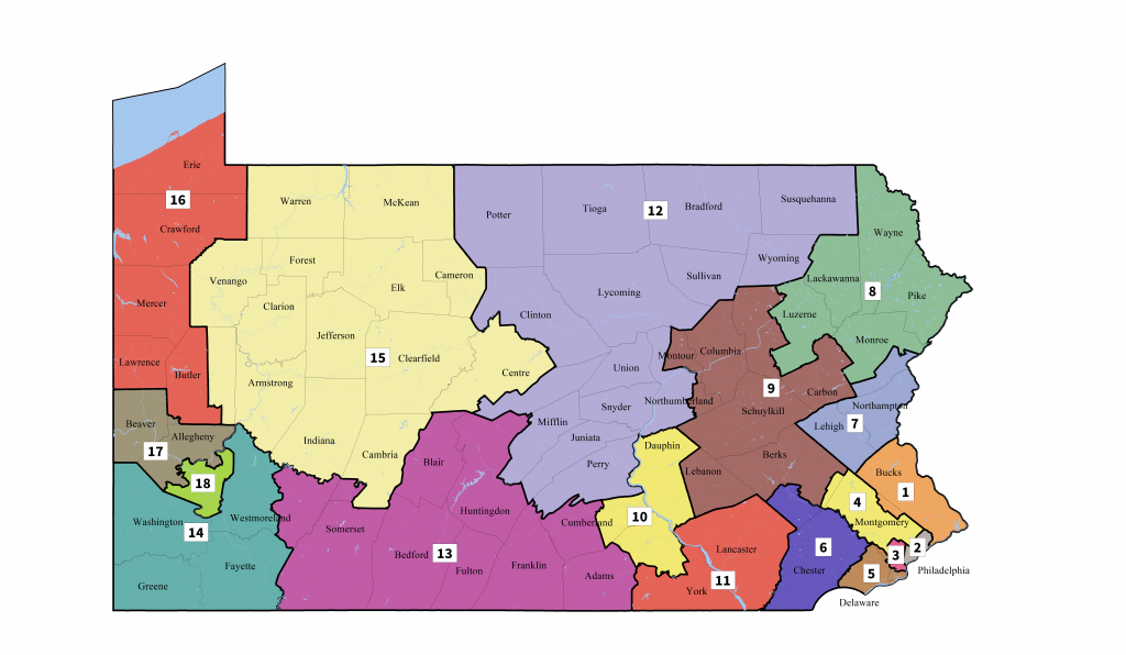 Pennsylvania's Congressional Districts - Wikipedia - Texas Us Representative District Map