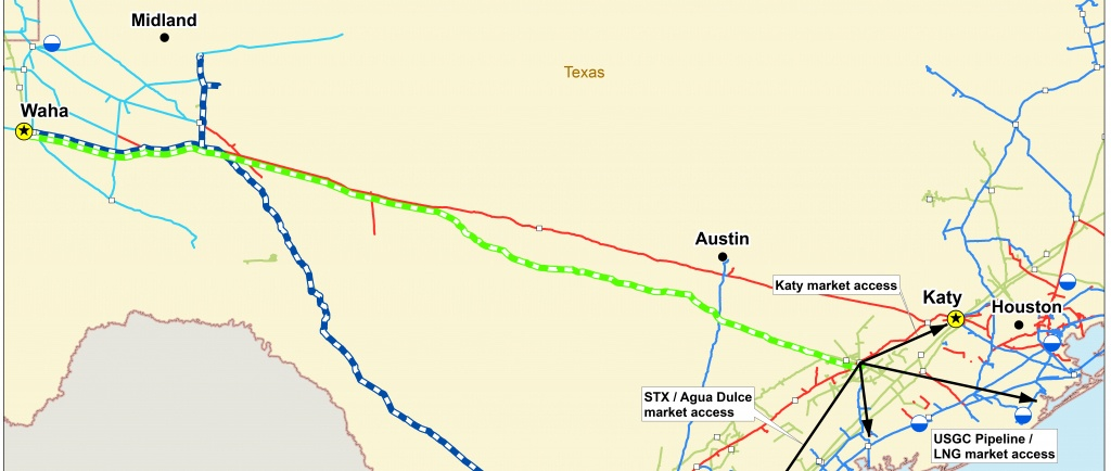 Permian Highway Pipeline | Braun & Gresham, Pllc. - Texas Gas Pipeline Map