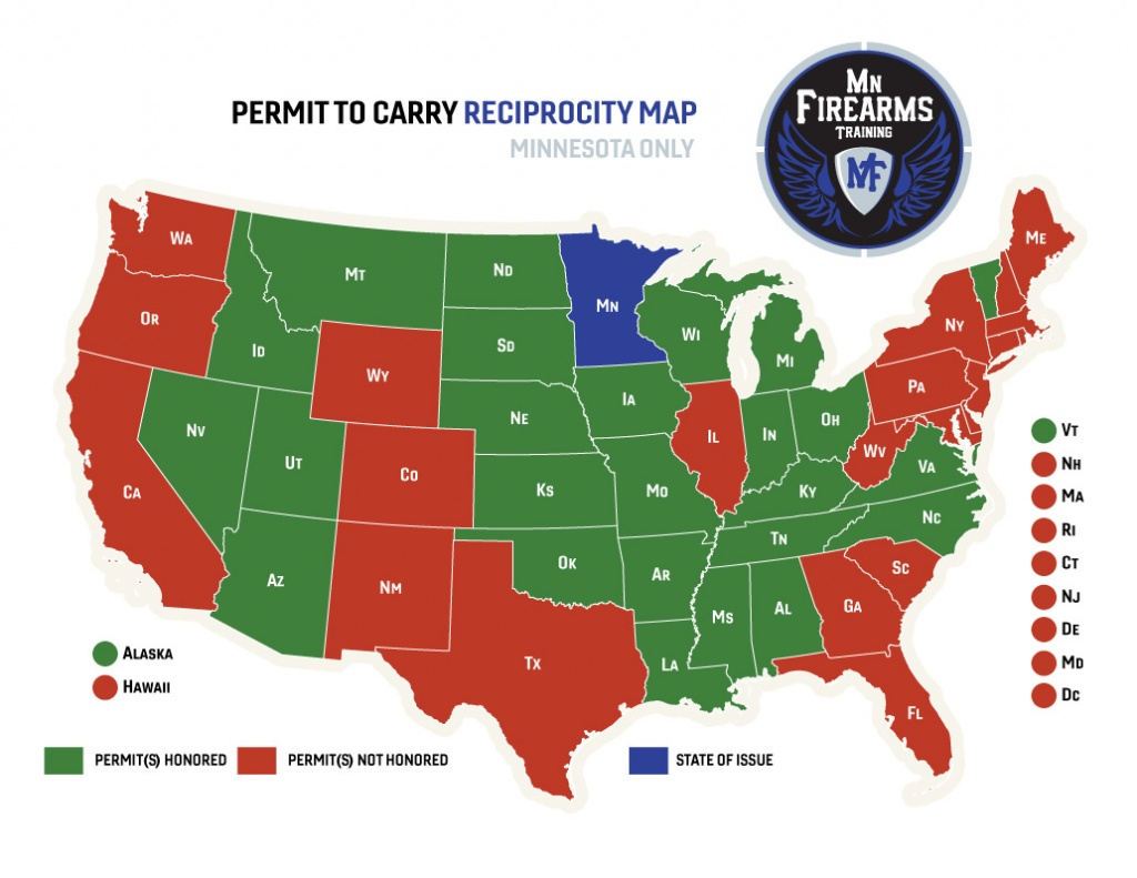 Permit To Carry Maps | Mn Firearms Training - Texas Concealed Carry Reciprocity Map