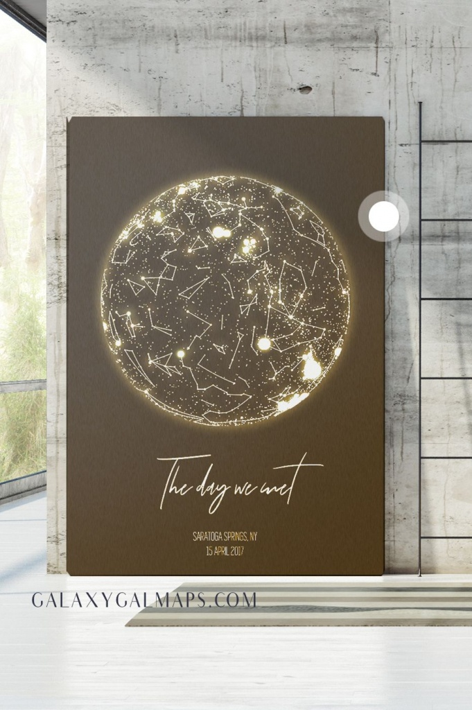 Personal Star Mapdate And Location - Star Map Custom Wall Art - Printable Star Map By Date