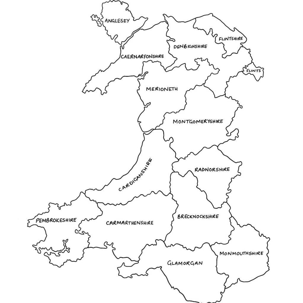 Personalised Maps Of Wales Printdrawink Designs - Printable Map Of Wales